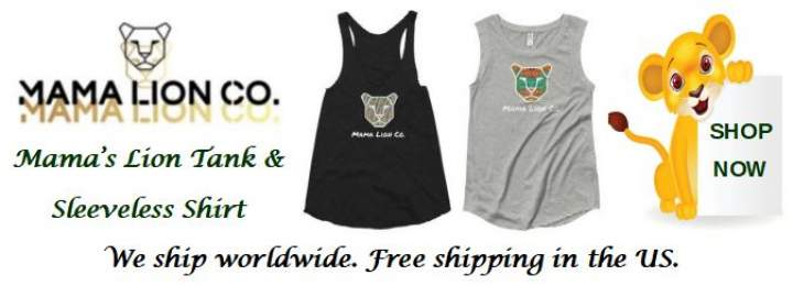 Advertisement: Mama Lion Co. Online Store. Fashionable Clothing & Accessories