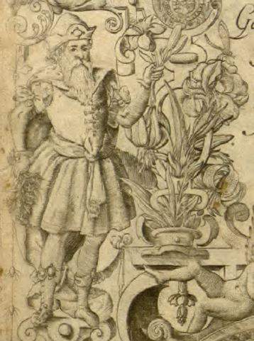 English botany book: depiction of Lord Burghley